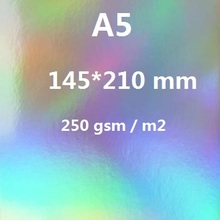 Size A5 Single Side Holographic Rainbow Mirror Glossy 250gsm Thick Cardstock Colorful Paper Card 10/20/30/50 You Choose Quantity