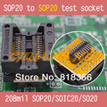 IC TEST Detect 208mil sop20 to sop20 test socket  soic20/so20/sop20 socket