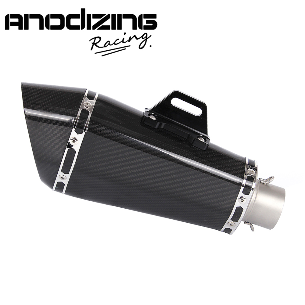 Мотоцикла R-77D реальные углеродного волокна глушитель поскользнуться на выхлопной глушитель тишина