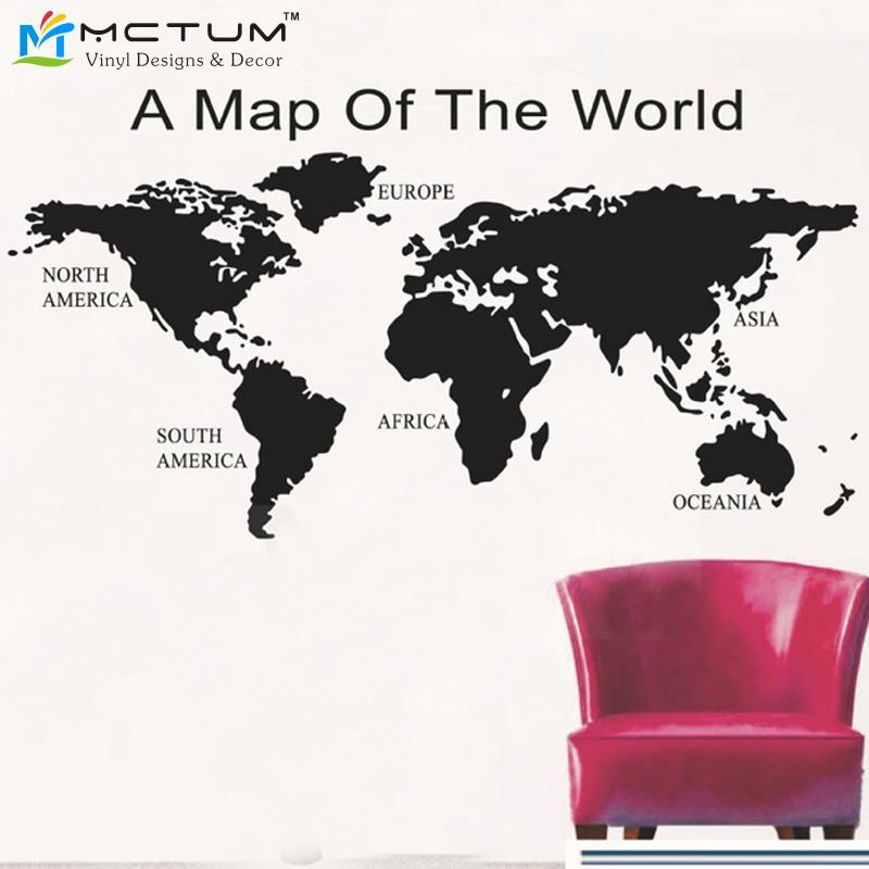 Removable global world map mapa wallpaper stickers wall vinyl wall removable global world map mapa wallpaper stickers wall vinyl wall art map decal sticker home decor size 542x130cm in wall stickers from home garden on gumiabroncs Choice Image