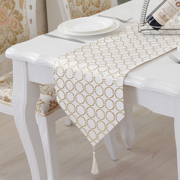 TUEDIO Table Runner Luxury Cloth Table Runners Silver Gold Endless Table Runner Banquet Party Wedding Decoration tafelloper
