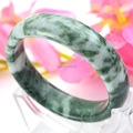 Free Shipping Infinity AA Grade Natural Love Jade Bangle Nice Xinjiang Gobi Jade Bracelets & Bangles for Women Men Jewelry