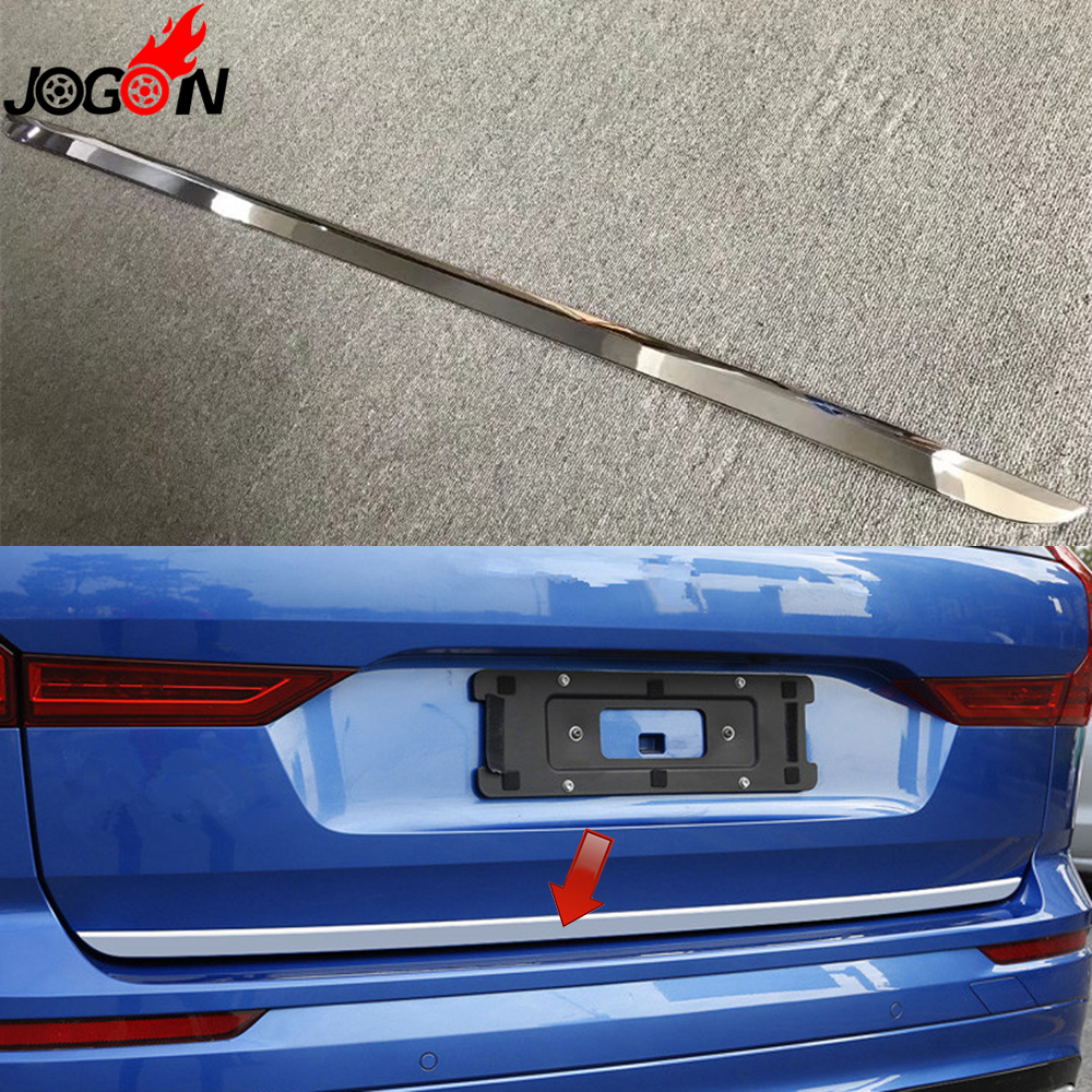 For Volvo XC60 2018 2019 Car Styling Rear Back Trunk Door Body Trim ABS Chrome Accessories Bright Silver car auto accessories rear trunk molding lid cover trim rear trunk trim for nissan sunny versa 2011 abs chrome 1pc per set
