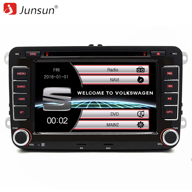 Junsun 7 inch 2 Din Car Radio DVD GPS Player For Seat/Altea/Toledo/Leon/Alhambra With GPS Navigation/Bluetooth/FM/Canbus