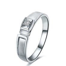 18K Gold Diamond Ring for Men Genuine K Gold and Natural Diamond Men Ring Wedding Engagement Ring Fine Jewelry