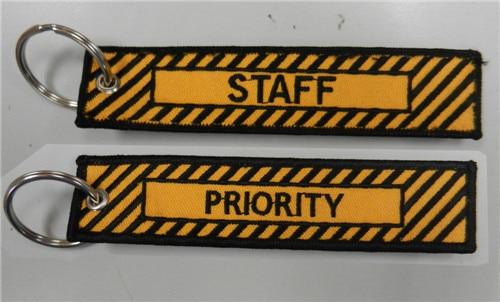 Приоритет и персонала Вышивка брелок - Название цвета: Orange