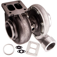 GT45 TURBOCHARGER/TURBO 600+HP BOOST UNIVERSAL T4/T66 3.5 V BAND 1.05 A/R 92 GT45R 5 Wet Float A/R .66 Compressor Oil Cooled