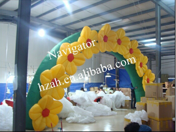 Entrance Decoration Inflatable Flower Archway 2017 new inflatable flower long wedding decoration flower