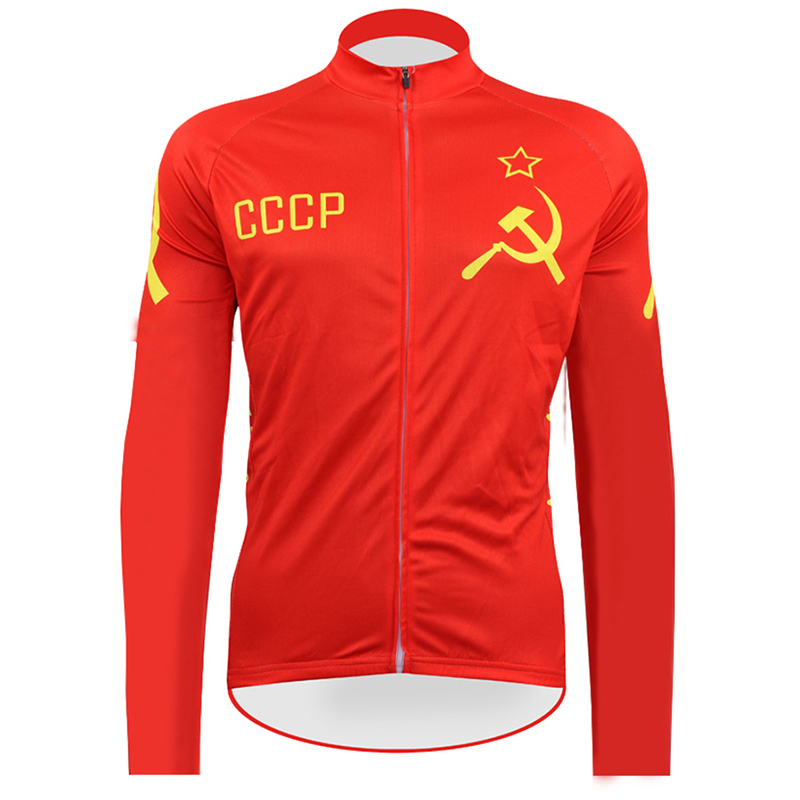 2018 cccp Cycling Jerseys retro Long Sleeve Mtb Clothing classic Bike Wear Clothes Bicycle Maillot Roupa Ropa De Ciclismo Hombre xintown cycling clothing men long sleeve bike wear jersey sleeve suite mtb bicycle maillot ropa ciclismo sportswear roupa