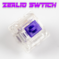 KBDFANS R11 Zealio Switches (Tactile) Purple Custom mechanical keyboard 62g 65g 67g 78g Transparent shell tealios switch