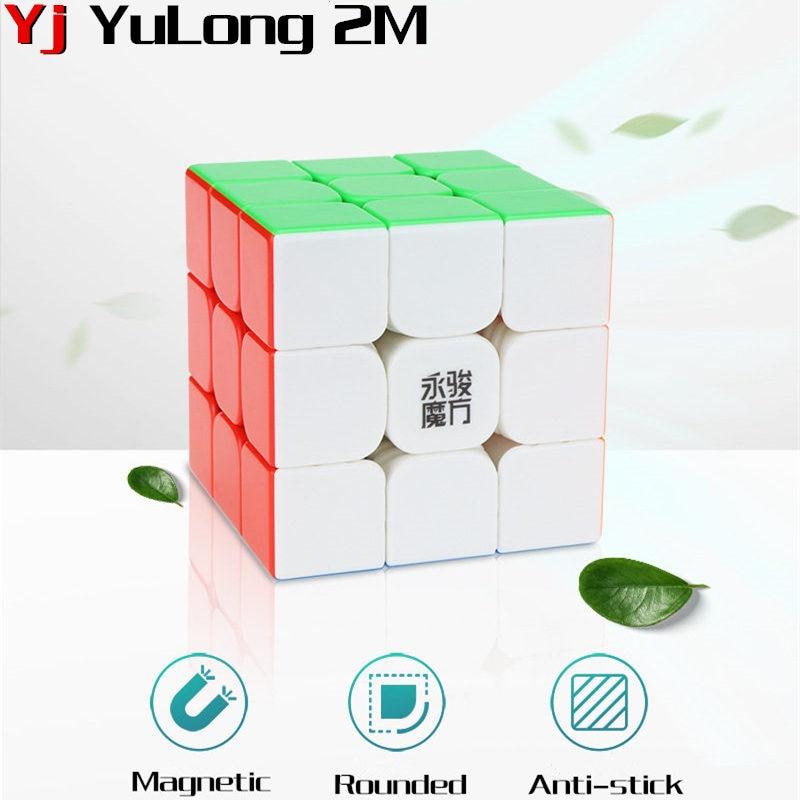 Yj Yulong V2 M 3x3x3 Magnética Ímãs Enigma Stickerless Velocidade Cubo Mágico Yongjun Cubos Brinquedos Educativos para As Crianças