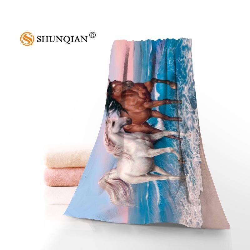 Neue Kundenspezifische Pferde Tiere Handtuch Gedruckt Baumwolle Gesicht/Badetücher Mikrofaser Stoff Für Kinder Männer Frauen Duschtücher A8.8