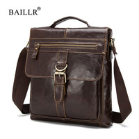 BAILLR Brand Men Genuine Leather Crossbody Shoulder Bag High Quality Fashion Design Men Messager Bags Luxury