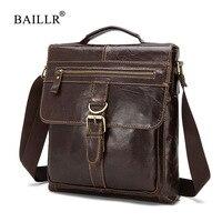 BAILLR Brand Men Genuine Leather Crossbody Shoulder Bag High Quality Fashion Design Men Messager Bags Luxury