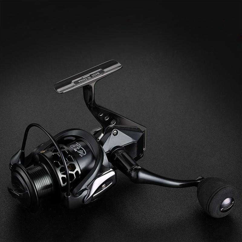 High Speed 14+1BB Black Full Metal Head Arm Spinning Fishing Reel 5.5:1 Fishing Wheel Sea Fishing Tackle