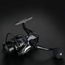 High Speed 14+1BB Black Full Metal Head Arm Spinning Fishing Reel 5.5:1 Wheel Sea Tackle