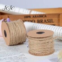 JOJO BOWS 3mm 10y Hemp Cord Ribbon Jute Burlap Webbing For Needlework Box Card Wrapping Handmade Craft Supplies Home Decoration