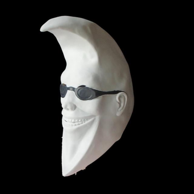 Máscara de Halloween mascarada máscaras de látex fiesta de carnaval COSplay máscara de látex cabeza Llena De Látex blanco Mac Luna hombre Máscara