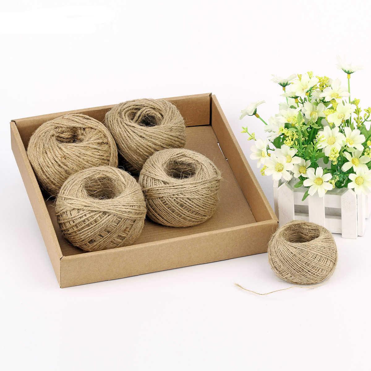 1mm-4mm/Roll Natural Serapilheira Texturizado Cabo de Fio de Corda de Cânhamo Para A Festa de Casamento DIY papel de Embrulho cords Tópico LYQ