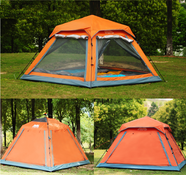 outdoor family camping tent 4 person travel automatic tent for beach camping equipment professional tents