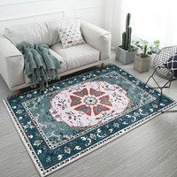 National wind American country living room carpet bohemian table full bedroom bedside area rug kitchen bathroom tatami Mat Home