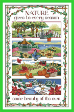 Four season, counted printed on fabric DMC 14CT 11CT Cross Stitch kits,embroidery needlework Sets Home Decor