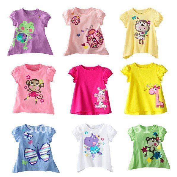 Jumping girls blouse dress boys 39 t shirts baby tshirts for Newborn girl t shirts
