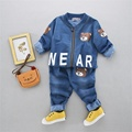 Boy Spring Cute Bears Children Clothing Sets Casual Kids Jackets+Pants 2pcs Boys Clothes Suits CC0021
