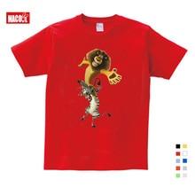 Best Sellers Cartoon Printing Madagascar Summer New T Shirt Alex Marty Cute Funny Send Children Birthday Gift