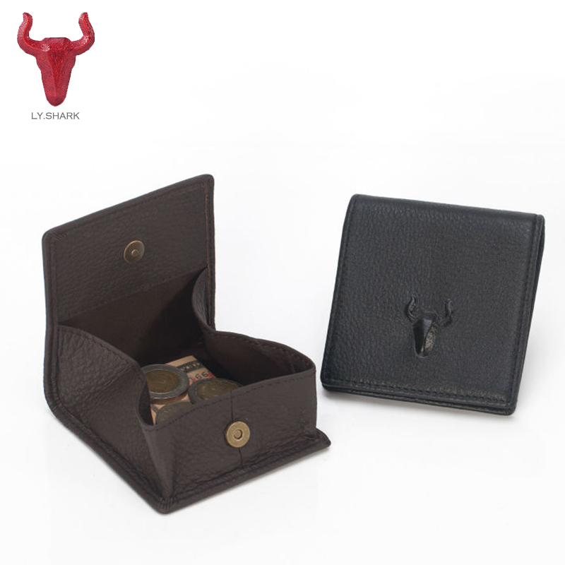 LY.SHARK New fashion Women Genuine Leather Coin Purse women Small Wallet Female change money bag Designer Coin Bags famous brand