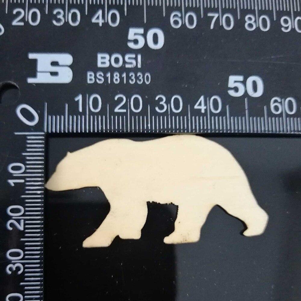 "unfinished wall cabin art 11/""x12/"" laser cut bear footprint  silhouette"
