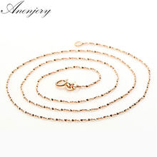 Anenjery 925 Sterling Silver Star Chain Rose Gold Color Necklace Use for Pendants Charms Women colar S-N10 (Diameter 1.5 mm)(China)