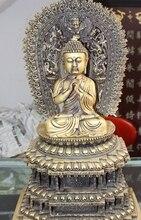 19 «Старый Тибет 100% Pure Бронза Шакьямуни Шакьямуни Крылатый Гаруда Будды Государств