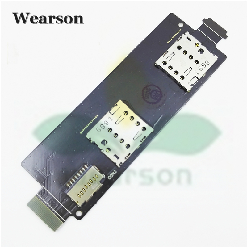 For Asus Zenfone5 Lite A502CG Sim Card Slot Memory Card Board Flex Cable FPC 100 Original