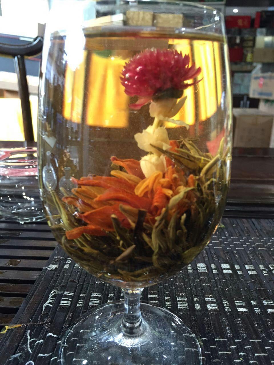 10pc Blooming Tea Hand Made Dried Jasmine Flowers Blooming Flower