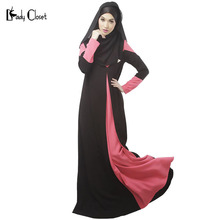 2016 Abaya muslim dress turkish women clothing islamic clothes for women Traditional muslim long dresses vestidos longo black