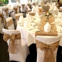 10M 15CM Burlap Fabric Roll Perfect For Rustic Weddings Placemat Diy Crafts Ribbon Table Runner Chair