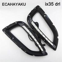High Quality Car Styling Case LED Headlight DRL Lens Daytime Running Light For Hyundai Ix35 2010