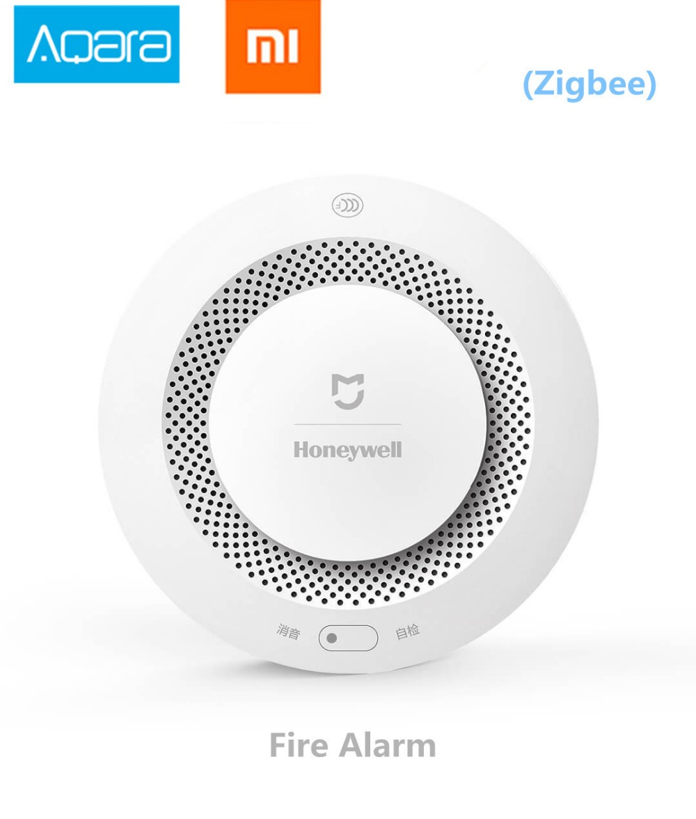 imágenes para Xiaomi Mijia Honeywell Detector de Alarma de Incendios, Zigbee Aqara Notication Trabajar con Mihome Audible Y Visual de Alarma de Control Remoto APP