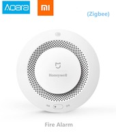 Xiaomi Mijia Honeywell Fire Alarm Detector, Aqara Zigbee Remote Control Audible And Visual Alarm Notication Work with Mihome APP