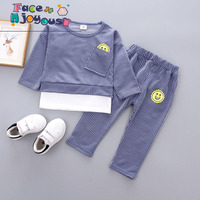 Fashion Kids Boys Clothes Set 2018 Spring Toddler Clothing 2pcs Striped T Shirt Pants Girl Sports