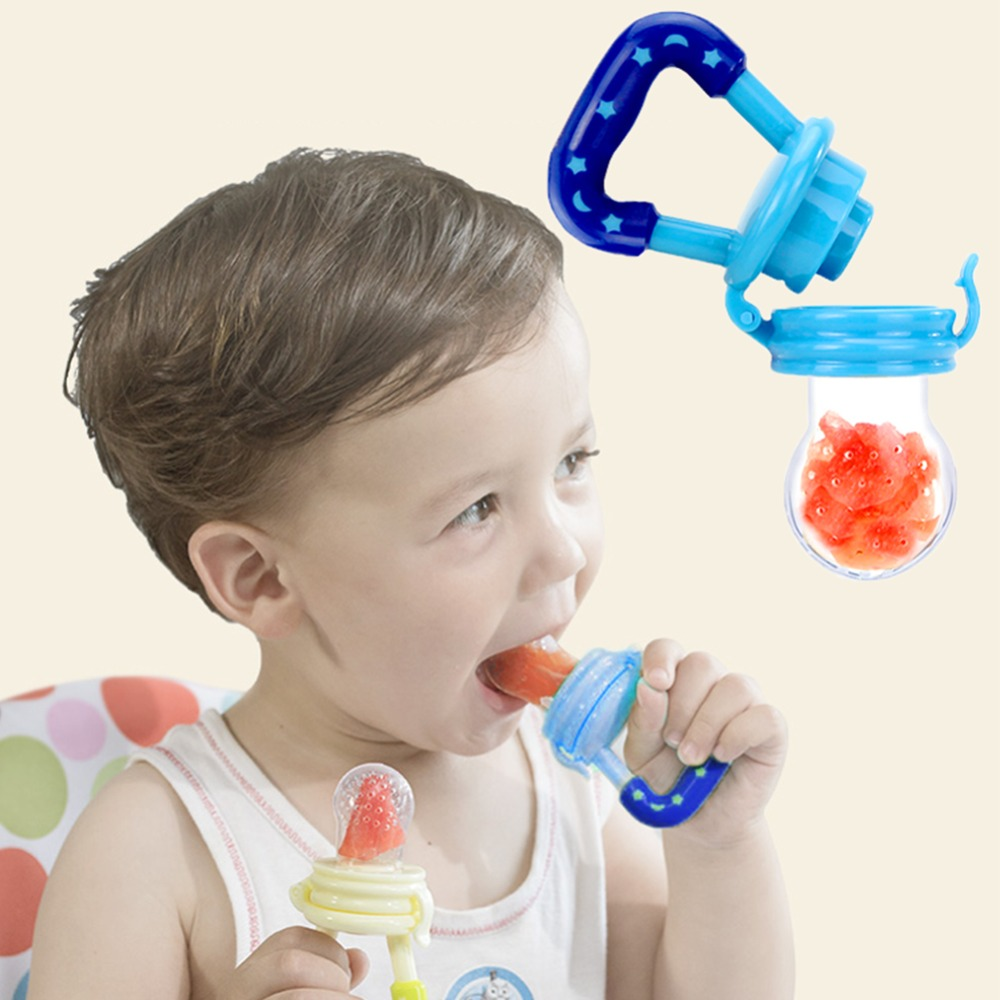 Baby Feeder Pacifier Infant Soother Sucking Teether Bite Nipple Infant Milk Fruit Juice Bite Bags Feeding Safe Pacifier Tool