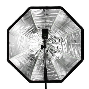 Image 5 - Godox 31.5in 80 เซนติเมตร Octagon ร่ม Softbox 200 เซนติเมตรขาตั้งร่มยึดรองเท้าร้อนสำหรับแฟลช Speedlite