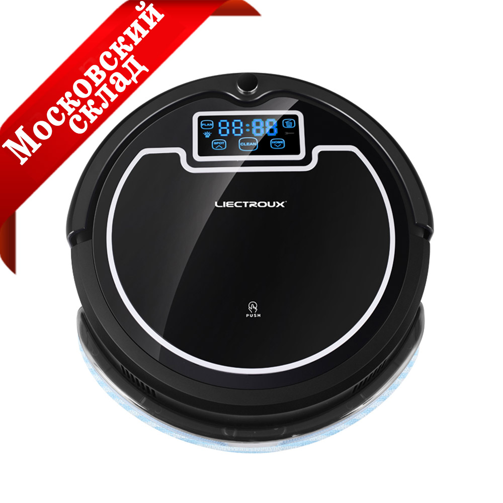 LIECTROUX B2005PLUS Robot Vacuum Cleaner With Water Tank Wet Dry Mop With Tone HEPA Schedule Virtual
