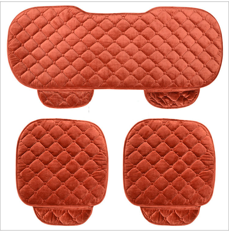 5 Seats Car Seat Covers Set For Front Back Seat Chair Set Women Cute Car seat cushion Soft Silk Velvet in Automobiles Seat Covers from Automobiles Motorcycles