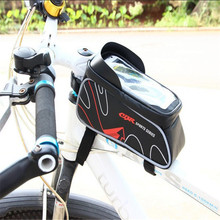 Bicycle Mountain Bike Bag Top Tube Package PU Saddle Bag Large capacity Anti fouling Waterproof Package Cycling Equipment M20