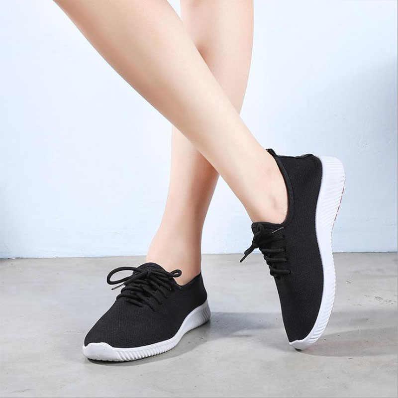 2019 جديد Kamucc النساء أحذية رياضية في الهواء الطلق احذية الجري أحذية رياضية شبكة ضوء أسفل حذاء كاجوال تنفس Lightable