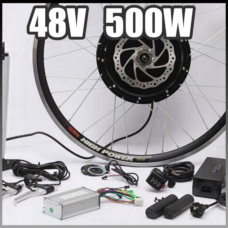 48v 500w motor with disc brakes hub electric bicycle ebike for 500w hub motor kit