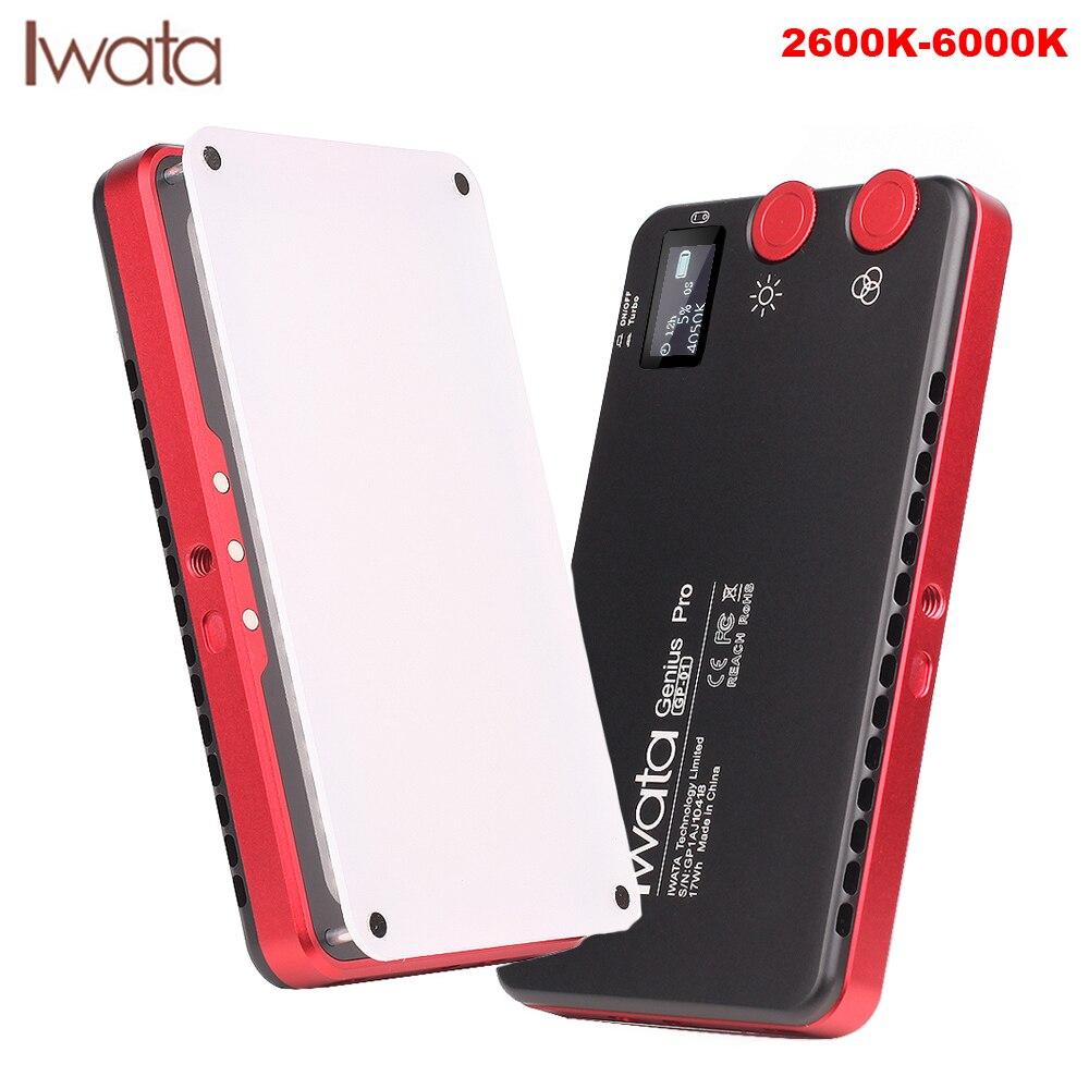 Iwata Genius Pro 144 LED lumière de remplissage bi couleur 2600 K 6000 K batterie intégrée téléphone Portable lumière vidéo extérieure PK Aputure AL MX-in Éclairage photographique from Electronique    1