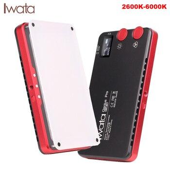 Iwata Genius Pro 144 LED wypełnij światło Bi kolor 2600 K-6000 K wbudowana bateria przenośny telefon na zewnątrz lampa wideo PK Aputure AL-MX